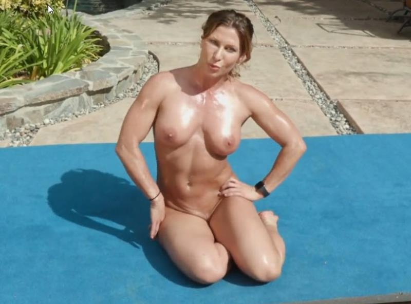 Ariel X ~ Nude Circuit Workout in the Outdoors Poolside ~ Submissivex.com/Kink.com ~ FullHD 1080p